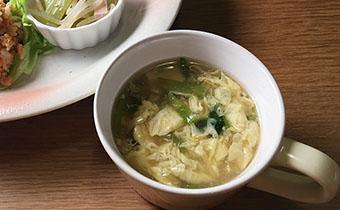 明日葉のかきたまスープ