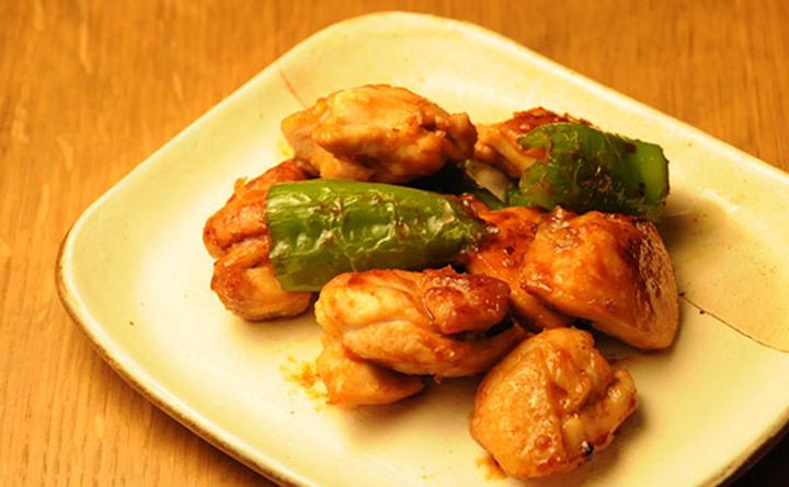 甘唐辛子と鶏肉の味噌炒め