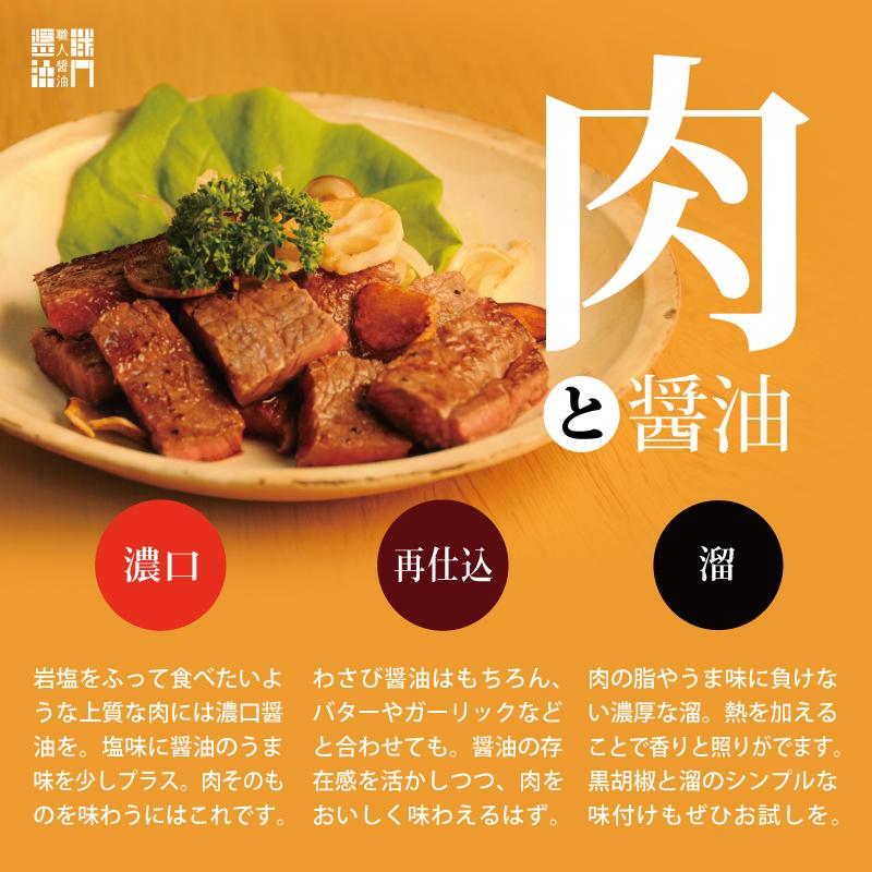 肉を楽しむ醤油